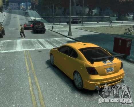 Toyota Scion Tc 2.4 для GTA 4 вид слева