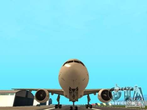 Boeing 777-200 Air France для GTA San Andreas вид сзади