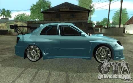 Subaru Impreza STI для GTA San Andreas вид сзади