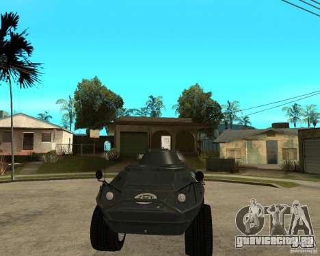 БТР из GTA IV для GTA San Andreas вид сзади