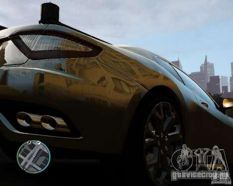 Maserati Grandturismo для GTA 4 вид сзади
