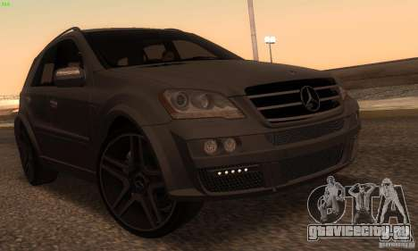 Mercedes-Benz ML63 AMG Brabus для GTA San Andreas вид слева