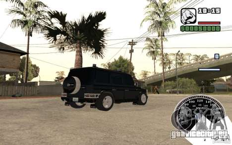 Mercedes-Benz G500 FBI для GTA San Andreas вид сзади слева