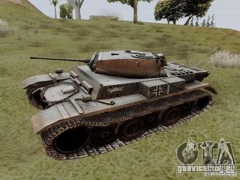 PzKpfw II Ausf.B для GTA San Andreas вид слева