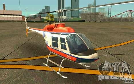 Bell 206 B Police texture2 для GTA San Andreas вид слева