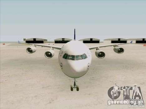 Airbus A-340-600 Lufthansa для GTA San Andreas вид изнутри