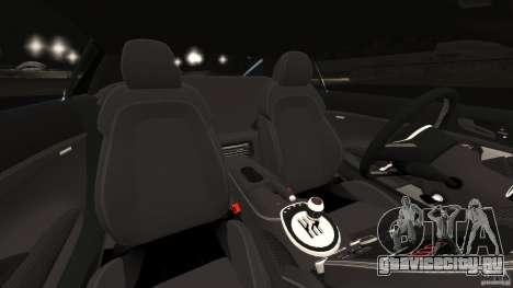 Audi R8 5.2 Stock Final для GTA 4 вид изнутри