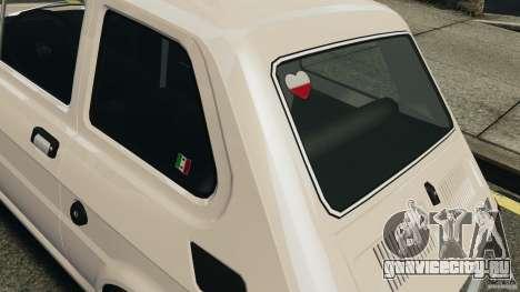 Fiat 126 Classic для GTA 4 вид изнутри
