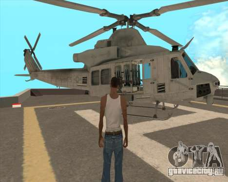 UH-1 Iroquois для GTA San Andreas вид сбоку