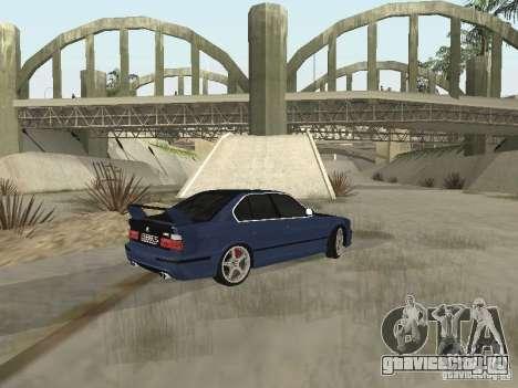 BMW M5 E34 для GTA San Andreas вид сзади слева