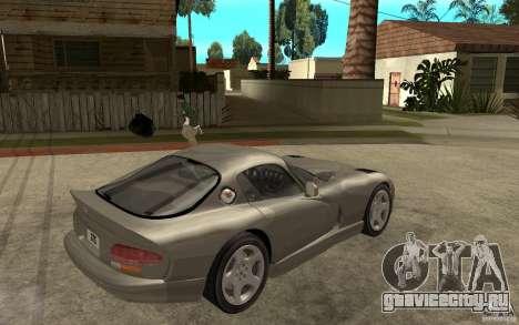 Dodge Viper GTS для GTA San Andreas вид справа
