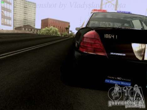 Ford Crown Victoria Los Angeles Police для GTA San Andreas вид изнутри