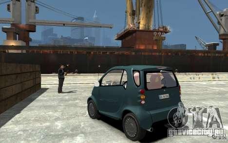 Smart For Two для GTA 4 вид сзади слева