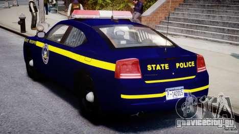 Dodge Charger NY State Trooper CHGR-V2.1M [ELS] для GTA 4 вид справа
