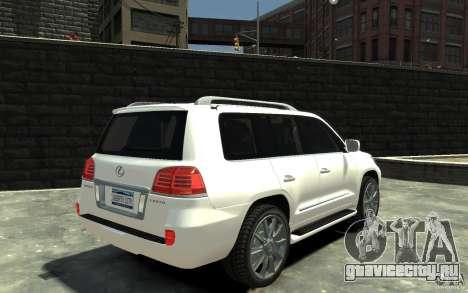 Lexus LX 570 v1.0 для GTA 4 вид справа
