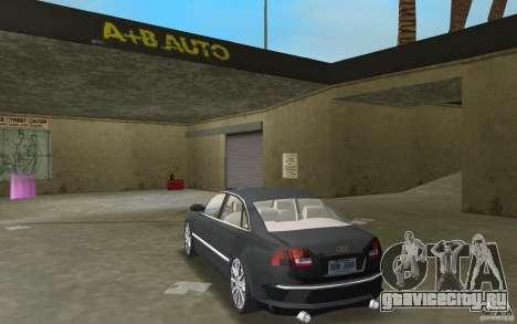 Audi A8 для GTA Vice City вид справа