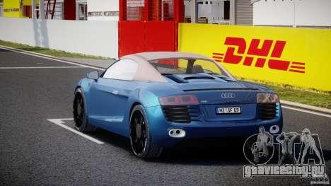 Audi R8 Spyder v2 2010 для GTA 4 вид сбоку