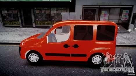 Fiat Doblo 1.9 2009 для GTA 4 вид слева