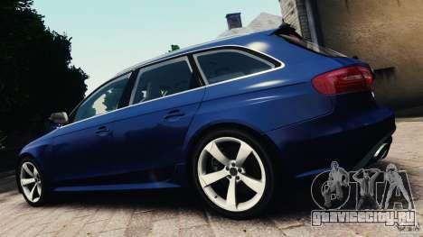 Audi RS4 Avant 2013 v2.0 для GTA 4 вид слева