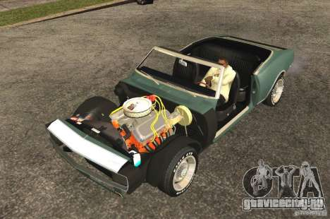 Chevrolet Camaro RS SS 396 1968 Convertible для GTA San Andreas вид сзади слева