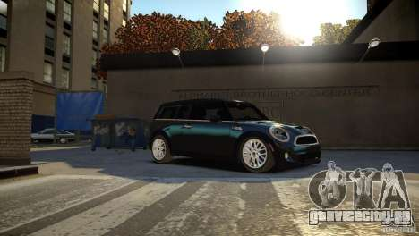 Mini Cooper Clubman для GTA 4 вид сзади