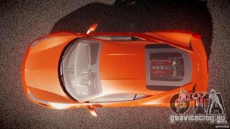 Ferrari 458 Italia 2010 для GTA 4 вид сверху