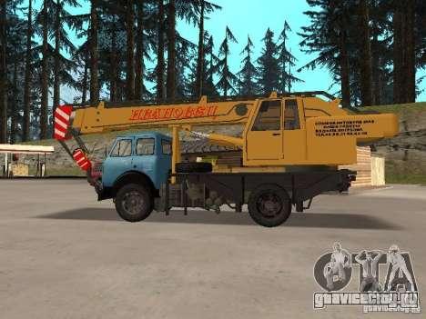 МАЗ КС3577-4-1 Ивановец для GTA San Andreas вид слева