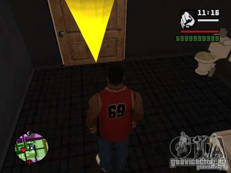 Ванная CJ для GTA San Andreas четвёртый скриншот
