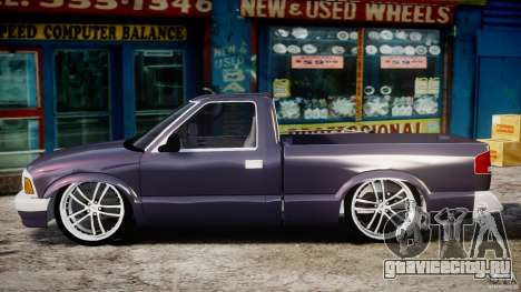 Chevrolet S10 1996 Draggin [Beta] для GTA 4 вид слева