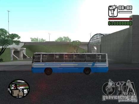 Ikarus 260 Безопасность движения для GTA San Andreas вид сзади слева