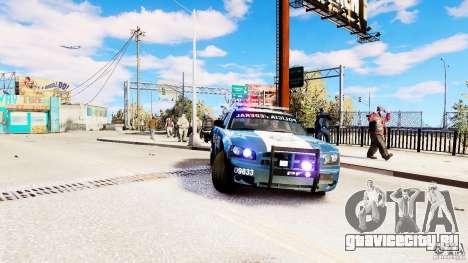 POLICIA FEDERAL MEXICO DODGE CHARGER ELS для GTA 4 вид справа