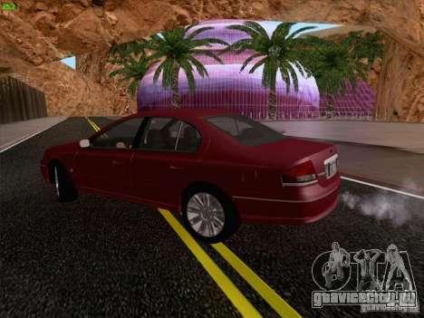 Ford Falcon Fairmont Ghia для GTA San Andreas вид изнутри