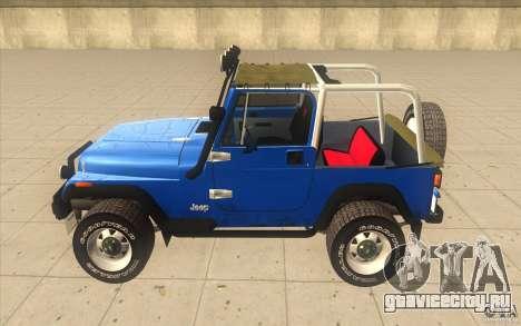 Jeep Wrangler 4.0 Fury 1986 для GTA San Andreas вид слева