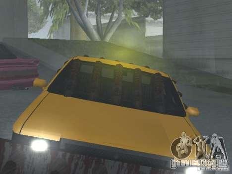 Зомби Такси для GTA San Andreas вид изнутри