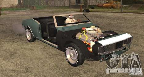 Chevrolet Camaro RS SS 396 1968 Convertible для GTA San Andreas вид сзади