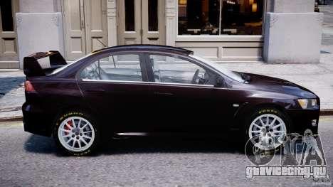 Mitsubishi Lancer X для GTA 4 вид слева