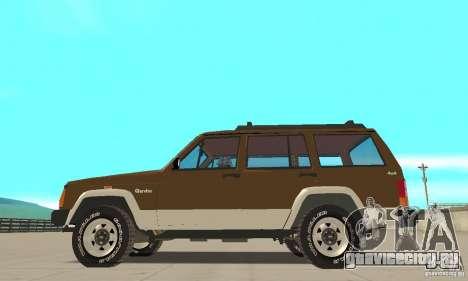 Jeep Grand Cherokee 1986 для GTA San Andreas вид слева