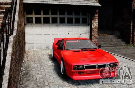 Lancia 037 Stradale для GTA 4 вид сзади слева