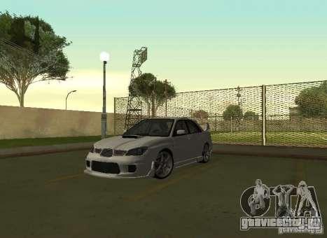 Subaru Impreza WRX STI-Street Racing для GTA San Andreas вид изнутри