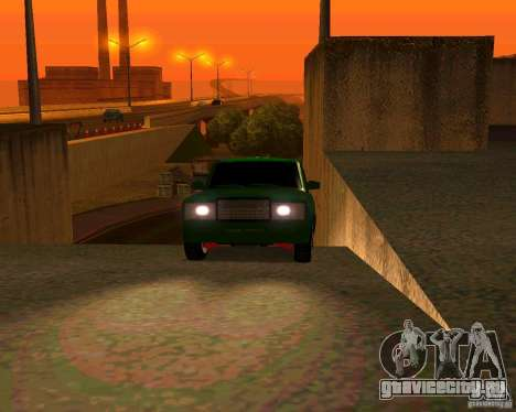ВАЗ 2107 Бродяга v.1 для GTA San Andreas вид сзади