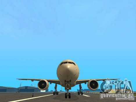 Boeing 777-200 Japan Airlines для GTA San Andreas вид сверху