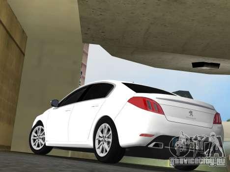 Peugeot 508 e-HDi 2011 для GTA Vice City вид сзади