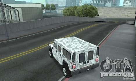 Hummer H1 для GTA San Andreas салон