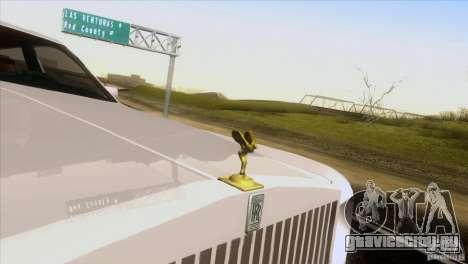 Rolls Royce Phantom Hamann для GTA San Andreas вид изнутри