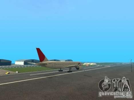 Boeing 777-200 Japan Airlines для GTA San Andreas вид изнутри
