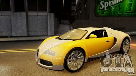 Bugatti Veyron 16.4 v1.0 wheel 2 для GTA 4 вид сбоку