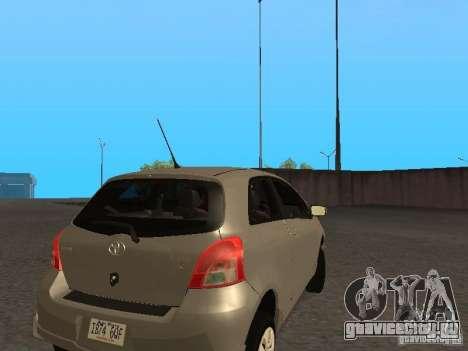 Toyota Yaris Sport 2008 для GTA San Andreas вид справа