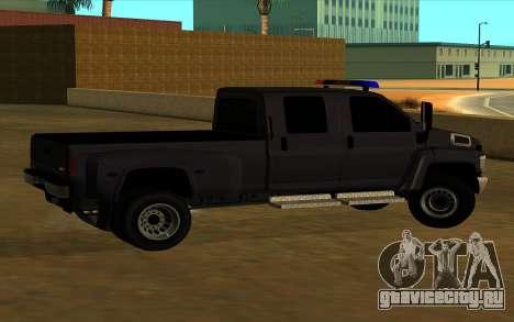 GMC Topkick C4500 для GTA San Andreas вид изнутри