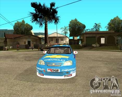 Chevrolet Lacetti WTCC для GTA San Andreas вид сзади