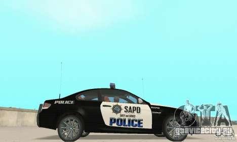 BMW M3 E92 Police для GTA San Andreas вид сзади слева